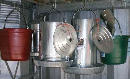 pails and feed pans