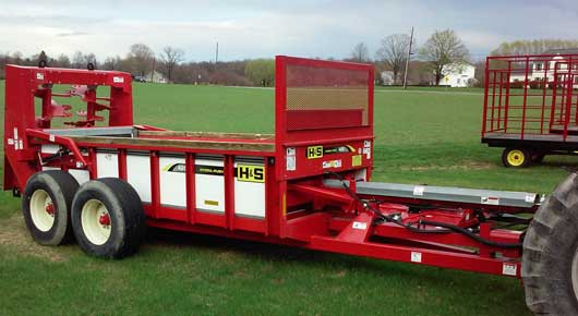 Used hydrapush manure spreader