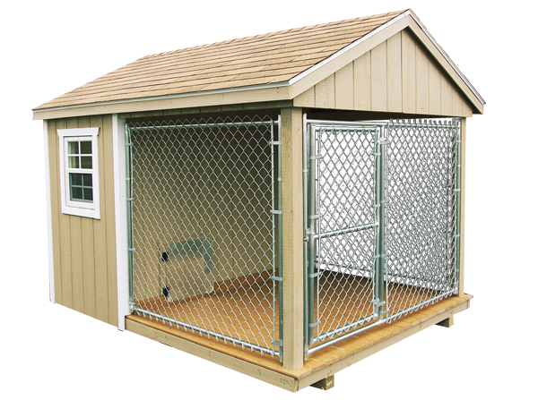 8u0027 x 10u0027 dog kennel shown with duratemp siding