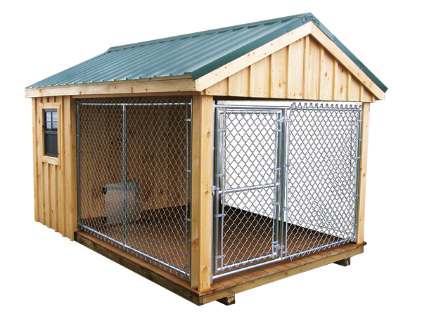 Pet structures with quality value dog kennels for Dog kennel shed combo plans
