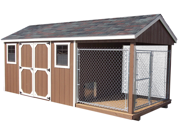8u0027 X 18u0027 Dog Kennel And Shed Combination